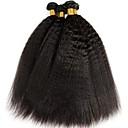 זול תוספות שיער בגוון טבעי-4 חבילות שיער הודי יקי שיער אנושי טווה שיער אדם / שיער Bundle / פתרון חפיסה אחת 8-28 אִינְטשׁ טבעי שוזרת שיער אנושי הוכן באמצעות מכונה איכות מעולה / הגעה חדשה / בתולה100% תוספות שיער אדם