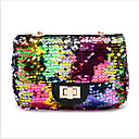 cheap Crossbody Bags-Women's Sequin Synthetic Shoulder Messenger Bag Rainbow