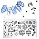 cheap Nail Stamping-1 pcs Stamping Plate Template Cartoon Series Universal / Recyclable nail art Manicure Pedicure Cartoon / European Christmas / Daily