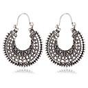 cheap Earrings-Women's Hollow Out Drop Earrings - Silver For Date Festival