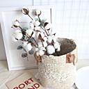 זול צמחים מלאכותיים-פרחים מלאכותיים 1 ענף קלאסי כפרי פסטורלי סגנון פרחים נצחיים פרחים לשולחן