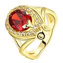 povoljno Komplet nakita-Žene Prsten Ruby 1pc Zlato Rose Gold 18K Gold Kapi dame Moda Party Dnevno Jewelry Klasičan Ispustiti Lijep