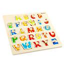 povoljno Modno prstenje-Drvene puzzle Slovo Cool Fin Interakcija roditelja i djece drven 1 pcs Dječji Sve Igračke za kućne ljubimce Poklon