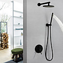 cheap Shower Faucets-Shower Faucet / Bathroom Sink Faucet - Contemporary Painted Finishes Wall Mounted Brass Valve Bath Shower Mixer Taps / Single Handle Three Holes