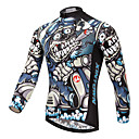 cheap Cycling Jerseys-XINTOWN Men's Long Sleeve Cycling Jersey - White Bike Jersey, Breathable, Quick Dry, Ultraviolet Resistant, Winter Patterned / Stretchy