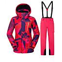 זול ביגוד לסקי וסנובורד-Vector בגדי ריקוד נשים ג'קט ומכנסיים לסקי עמיד, חם, משקפות סקי סקי / מחנאות וטיולים / סנואובורד פולי מכנסיים / מכנסי סינר שלג / צמרות ביגוד סקי / חורף