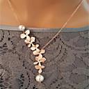 preiswerte Modische Halsketten-Damen Vintage Stil Anhängerketten / Vintage Halskette - Perle Blume Rustikal / Ländlich, Elegant Niedlich Gold 34 cm Modische Halsketten Schmuck 1pc Für Party, Geschenk