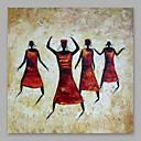 billige Personmalerier-Hang malte oljemaleri Håndmalte - Mennesker Moderne Inkluder indre ramme / Stretched Canvas