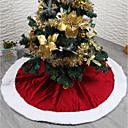 abordables Decoraciones Navideñas-Navidad Vacaciones / Árbol de Navidad Textil / Franela de Algodón Circular Fiesta Decoración navideña