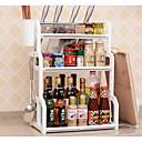 זול צנצנות ותיבות-ארגון המטבח מדפי מדף PP(פוליפרופילן) אחסון 1pc