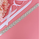 cheap Party Sashes-Satin / Tulle Wedding / Special Occasion Sash With Imitation Pearl / Crystals / Rhinestones Women's Sashes