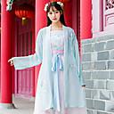 povoljno Plesni kostimi-Plesni kostimi Tradicionalna kineska odjeća hanfu Žene Trening / Seksi blagdanski kostimi Pamuk Vez Dugih rukava Kaput