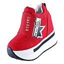 ieftine Adidași de Damă-Pentru femei Pantofi de confort PU Toamnă Casual Adidași Creepers Alb / Negru / Rosu