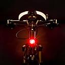 tanie Światła rowerowe-Tylne światła LED Światła rowerowe Kolarstwo Wodoodporny, Przenośny, Łatwo otwieralny Akumulator 500 lm Akumulator Czerwony Kolarstwo / Rower - ROCKBROS