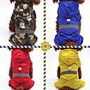 baratos Camas & Cobertores para Cães-Cachorros / Gatos / Animais de Estimação Capa de Chuva / Decoração Roupas para Cães Sólido / Côr Camuflagem Vermelho / Azul / Cor