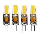abordables Luces LED de 2 Pin-SENCART 4pcs 4 W 350 lm G4 Luces LED de Doble Pin T 1 Cuentas LED COB Decorativa Blanco Cálido / Blanco 12 V