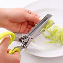 abordables Herramientas Para Vegetales y Verduras-Herramientas de cocina Acero Inoxidable Utensilios / Creativo Cortar con tijeras Utensilios de cocina innovadores 1pc