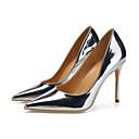 ราคาถูก รองเท้าส้นสูงผู้หญิง-สำหรับผู้หญิง รองเท้าส้นสูง หนังสิทธิบัตร ฤดูใบไม้ผลิ & ฤดูใบไม้ร่วง อังกฤษ / minimalism รองเท้าส้นสูง ส้น Stiletto Pointed Toe สีทอง / สีเงิน / งานแต่งงาน / พรรคและเย็น