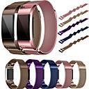baratos Smartwatch Acessórios-Pulseiras de Relógio para Fitbit Charge 2 Fitbit Pulseira Estilo Milanês Aço Inoxidável Tira de Pulso