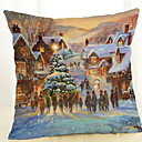 cheap Pillow Covers-Pillow Cover Christmas Cotton Fabric Square Novelty Christmas Decoration