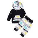 ieftine Set Îmbrăcăminte Băieți Bebeluși-Bebelus Băieți De Bază Zilnic Imprimeu / Bloc Culoare Manșon Lung Regular Bumbac Set Îmbrăcăminte Negru 80