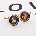 cheap Eyeshadows-Circle Blue Cufflinks Alloy Horse Dresswear / Fashion Unisex Costume Jewelry For Formal / Work