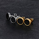 cheap Men's Earrings-Men's Vintage Style Stud Earrings - Titanium Steel, Platinum Plated, Rose Gold Plated Vintage, Trendy Jewelry Gold / Silver For Street / 1 Pair
