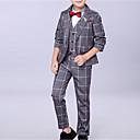 זול חליפות-בנים בסיסי כותנה מכנסיים - משובץ פול