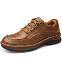 baratos Oxfords Masculinos-Homens Sapatos de couro Pele Napa Outono Clássico / Casual Oxfords Manter Quente Marron