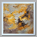 cheap Abstract Paintings-Oil Painting Hand Painted - Abstract / Landscape Comtemporary / Modern Stretched Canvas / Rolled Canvas
