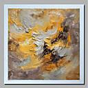 זול ציורים מופשטים-ציור שמן צבוע-Hang מצויר ביד - מופשט / L ו-scape עכשווי / מודרני כלול מסגרת פנימית / בד מגולגל / בד מתוח