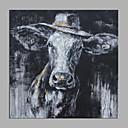 baratos Pinturas Abstratas-Pintura a Óleo Pintados à mão - Abstrato / Arte Pop Modern Tela de pintura