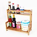 זול צנצנות ותיבות-ארגון המטבח Racks & Holders עץ קל לשימוש 1pc