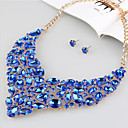 cheap Necklaces-Women's Gemstone Classic Jewelry Set - Stylish, Luxury, Trendy Include Bridal Jewelry Sets Rose Red / Blue / Champagne For Wedding Party