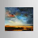 olcso Absztrakt festmények-Hang festett olajfestmény Kézzel festett - Absztrakt / Landscape Modern Tartalmazza belső keret / Nyújtott vászon