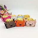 povoljno Kutijice za svadbene poklone-Kubni Art Paper Naklonost Holder s Scattered Bead Floral Motif Style / Uzorak / print Poklon kutije - 50pcs
