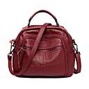 cheap Shoulder Bags-Women's Bags PU(Polyurethane) Shoulder Bag Zipper Dark Gray / Light Purple / Wine