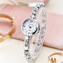 baratos Relógios Infantis-Mulheres Bracele Relógio Quartzo Relógio Casual Aço Inoxidável Banda Analógico Fashion Prata / Dourada - Prata Dourado