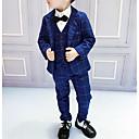 tanie Kurtki i płaszcze dla chłopców-Dzieci Dla chłopców Podstawowy Kratka Długi rękaw Bawełna / Poliester Komplet odzieży Niebieski 110