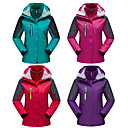 cheap Softshell, Fleece & Hiking Jackets-Women's Hiking 3-in-1 Jackets Outdoor Spring Fall Waterproof Thermal / Warm Windproof Fleece Lining 3-in-1 Jacket Winter Jacket Top Full Length Visible Zipper Skiing Camping / Hiking Hunting Light