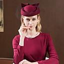baratos Acessórios de Cabelo-100% Lã Chapéus com Laço 1pç Casual / Roupa Diária Capacete