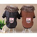 billige Hundeklær-Hunder / Katter Frakker Hundeklær Tegneserie / Britisk kaffe Imitert Pels Kostume For kjæledyr Unisex Fritid / hverdag / Mote