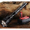 رخيصةأون المصابيح اليدوية وفوانيس الإضاءة للتخييم-Trustfire LED Flashlights LED LED 3 بواعث 3800/3000 lm 5 إضاءة الوضع مع البطاريات والشاحن Adjustable Focus Nonslip grip Camping / Hiking / Caving Everyday Use أخضر أسود