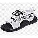 tanie Sandały męskie-Męskie Komfortowe buty Siateczka Lato Sandały Biały / Czarny