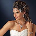 Χαμηλού Κόστους Αξεσουάρ κεφαλής για πάρτι-Κρύσταλλο / Κράμα Κεφαλές / Μαντήλι με Τεχνητό διαμάντι 1 Τεμάχιο Γάμου / Πάρτι / Βράδυ Headpiece