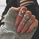 voordelige Ring-Dames Knokkelring / Ring Set / Multi-vinger ring 7pcs Goud / Zilver Strass / Legering Ovaal Dames / Ongewoon / Aziatisch Lahja / Dagelijks / Straat Kostuum juwelen / Oversized