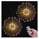 baratos Faixas de Luzes LED-KWB 3,3 m Controles remotos 150 LEDs 1 13 teclas de controle remoto Branco Quente Impermeável / Novo Design / Decorativa Baterias alimentadas 2pcs