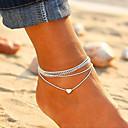 preiswerte Stoffporben-Damen Einzelkette Knöchel-Armband Romantisch Fusskettchen Schmuck Weiß Für Strasse Ausgehen