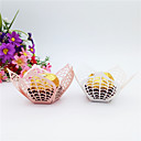cheap Favor Holders-Flower Cardboard Paper Favor Holder with Scattered Bead Floral Motif Style Gift Boxes - 50pcs