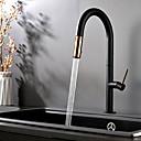 billige Kjøkkenkraner-Kjøkken Kran - Enkelt Håndtak Et Hull Malte Finishes Vannrett Montering Moderne Kitchen Taps